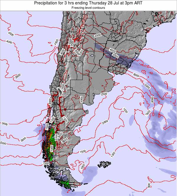 Argentina Precipitation for 3 hrs ending Tuesday 28 Oct at 3am ART