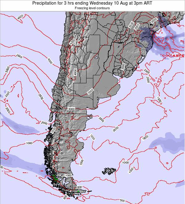 Argentina Precipitation for 3 hrs ending Saturday 20 Sep at 3pm ART