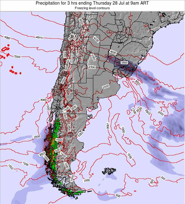 Argentina Precipitation for 3 hrs ending Wednesday 11 Dec at 3pm ART