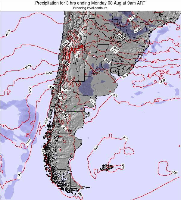 Argentina Precipitation for 3 hrs ending Saturday 03 Jun at 3am ART