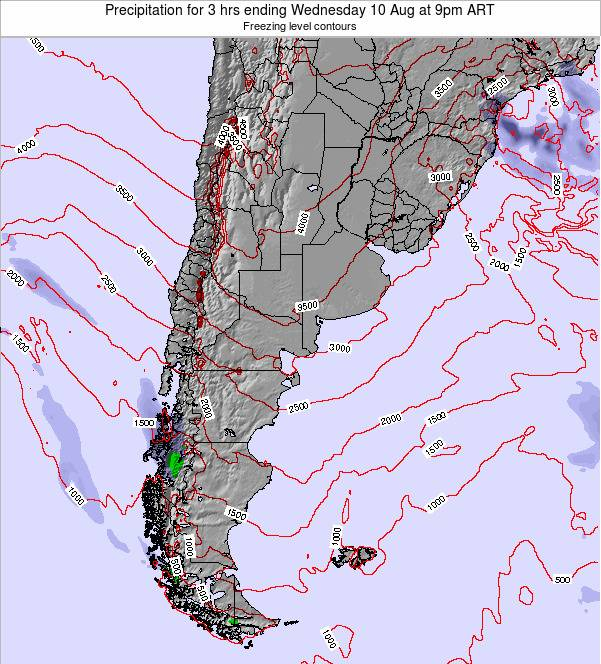 Argentina Precipitation for 3 hrs ending Thursday 13 Mar at 9am ART