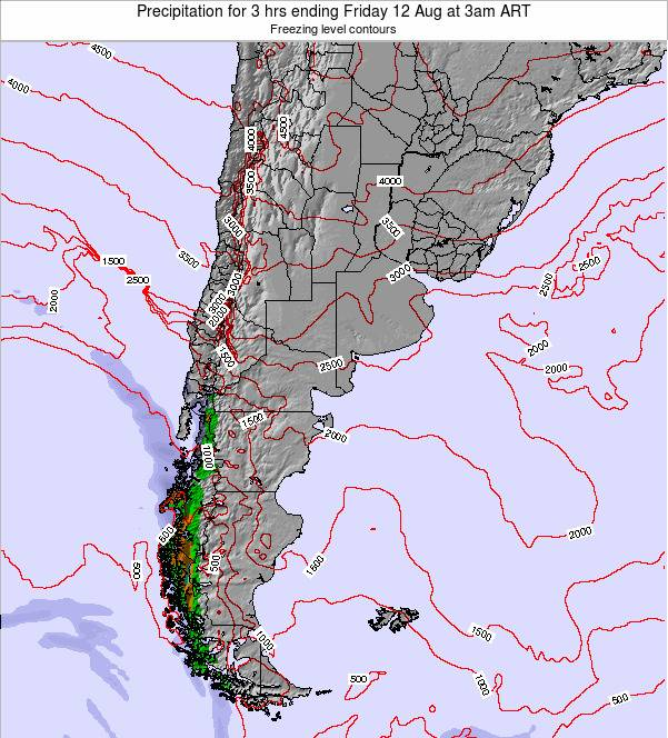 Argentina Precipitation for 3 hrs ending Friday 14 Mar at 9am ART