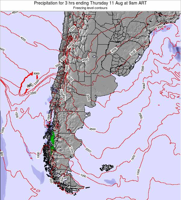 Argentina Precipitation for 3 hrs ending Sunday 05 Oct at 9am ART