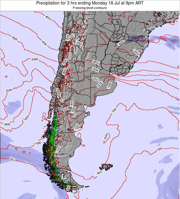 Argentina Precipitation for 3 hrs ending Wednesday 03 Dec at 9am ART