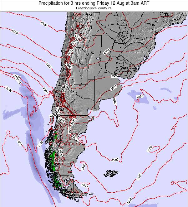 Argentina Precipitation for 3 hrs ending Friday 24 May at 3am ART