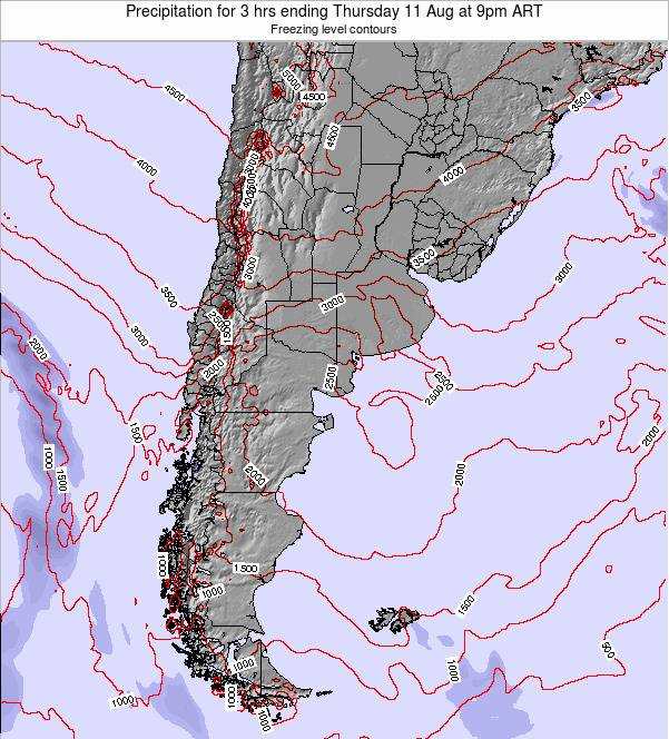Argentina Precipitation for 3 hrs ending Tuesday 29 Apr at 3am ART