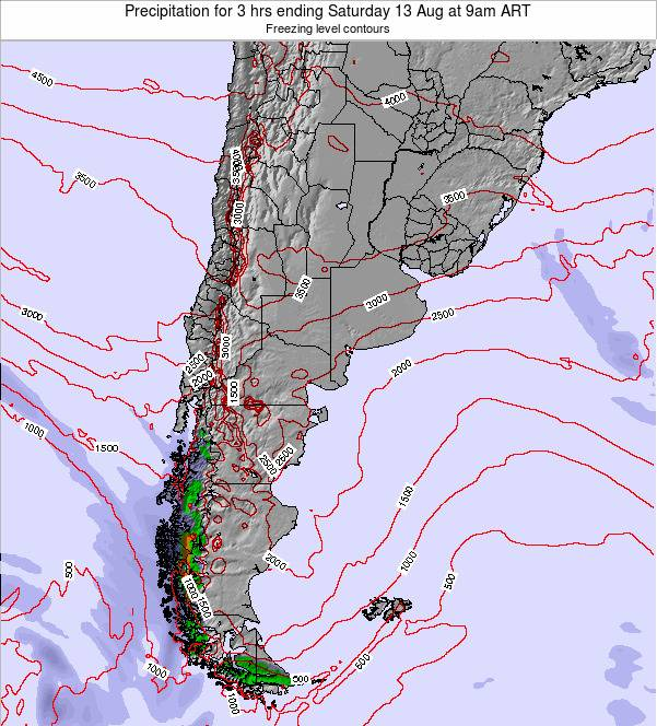 Argentina Precipitation for 3 hrs ending Thursday 24 Apr at 3am ART