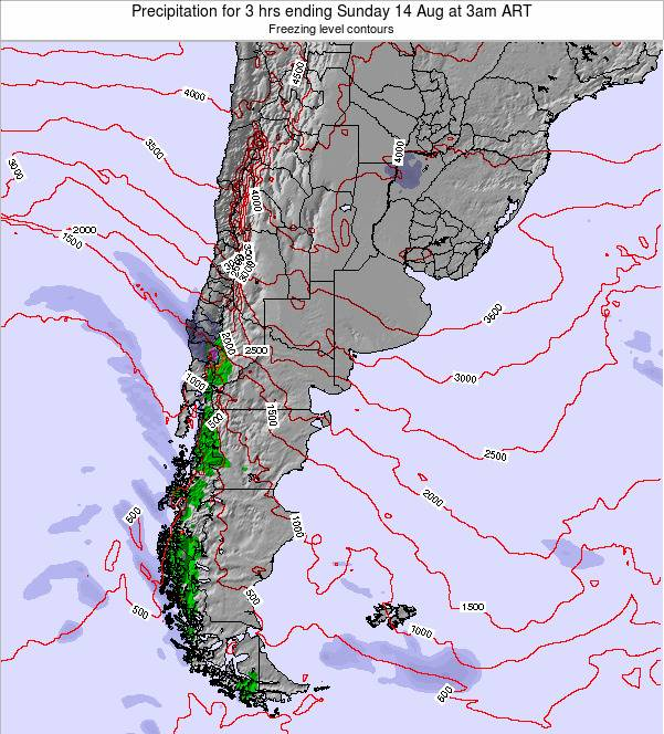 Argentina Precipitation for 3 hrs ending Tuesday 04 Nov at 9pm ART