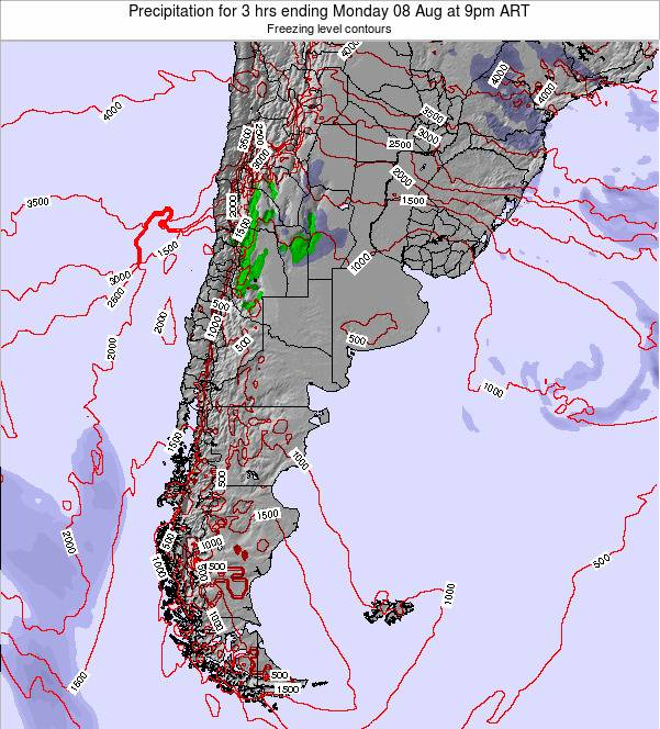 Argentina Precipitation for 3 hrs ending Wednesday 30 Apr at 3pm ART
