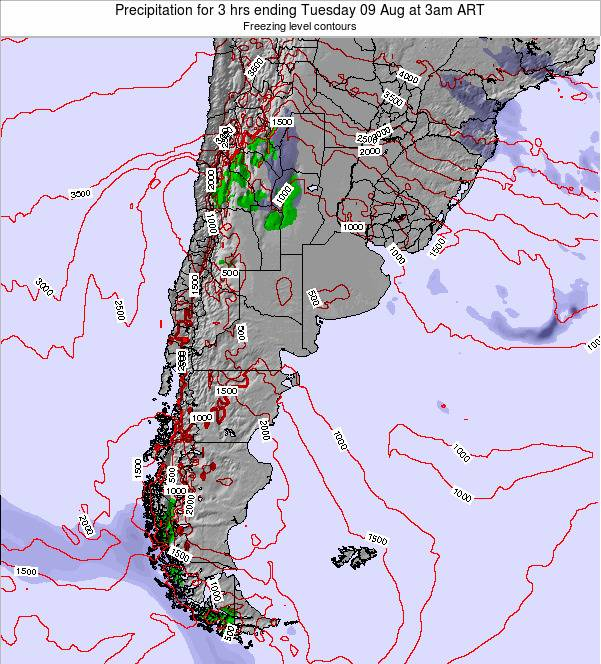 Argentina Precipitation for 3 hrs ending Wednesday 26 Jun at 3am ART