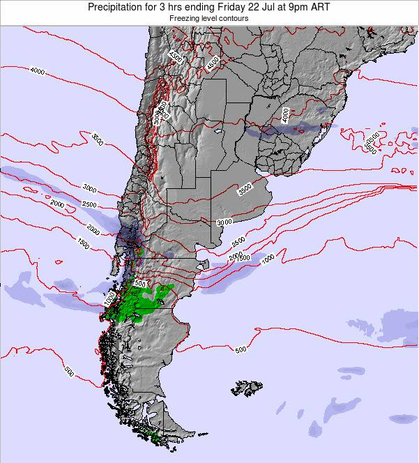 Argentina Precipitation for 3 hrs ending Saturday 29 Nov at 9pm ART
