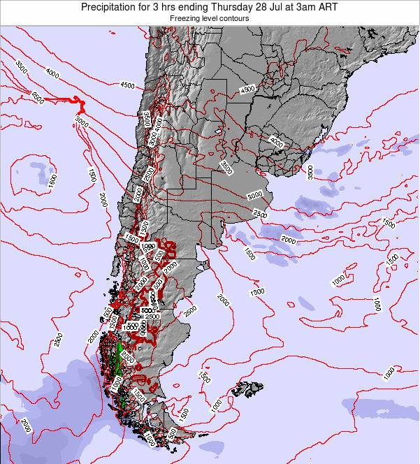 Argentina Precipitation for 3 hrs ending Friday 31 Oct at 9am ART