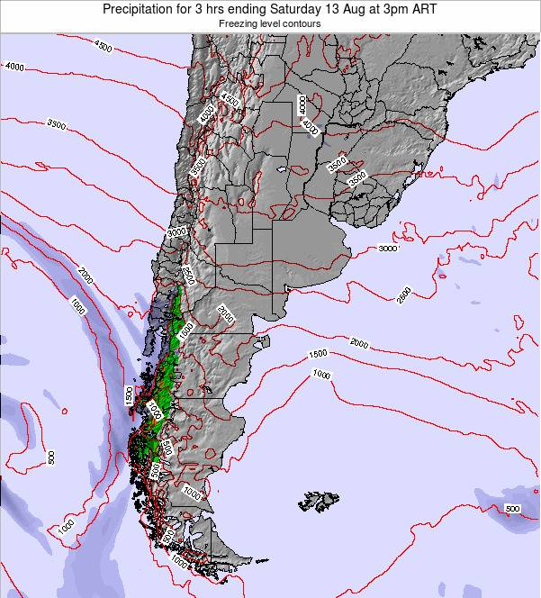 Argentina Precipitation for 3 hrs ending Thursday 31 Jul at 3pm ART