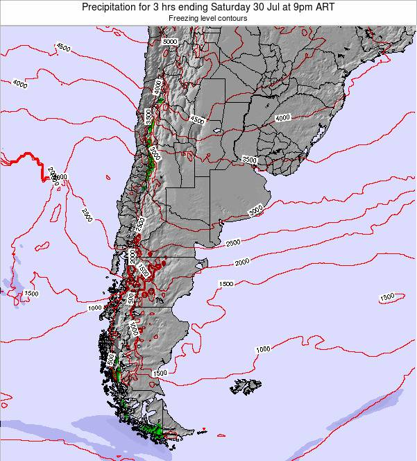 Argentina Precipitation for 3 hrs ending Saturday 25 May at 3pm ART