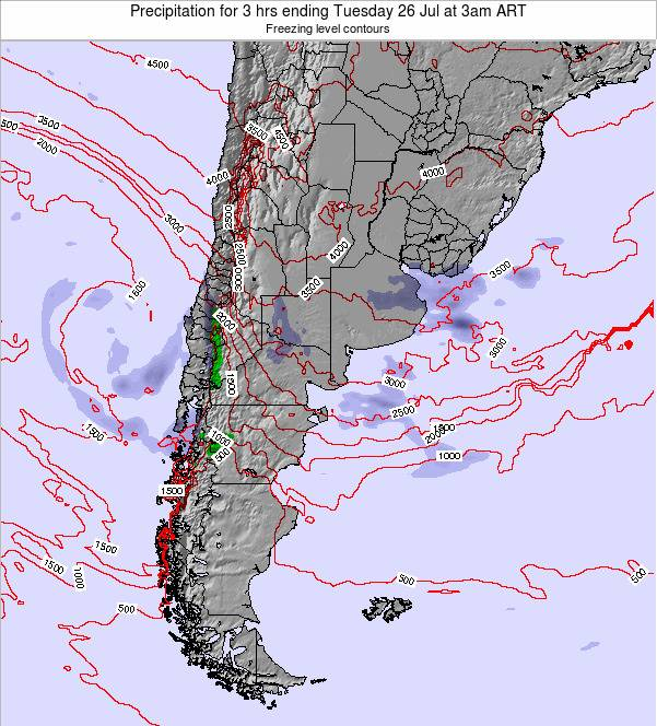 Argentina Precipitation for 3 hrs ending Thursday 23 May at 3am ART