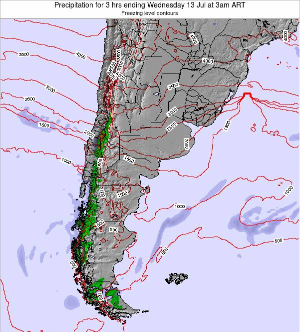 Uruguay Precipitation for 3 hrs ending Tuesday 21 May at 3am ART