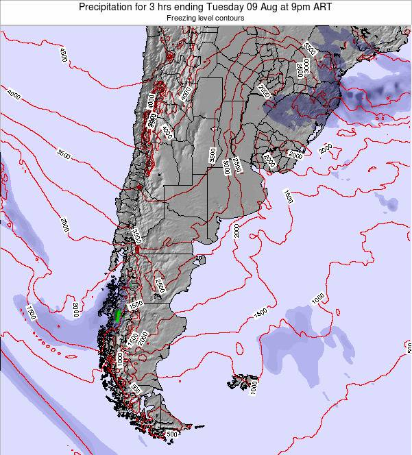 Uruguay Precipitation for 3 hrs ending Tuesday 24 Dec at 9am ART
