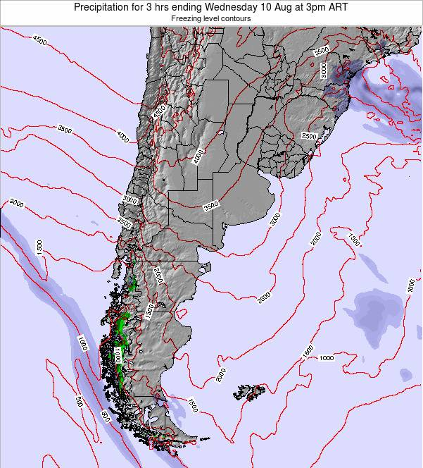 Uruguay Precipitation for 3 hrs ending Tuesday 28 Oct at 9pm ART