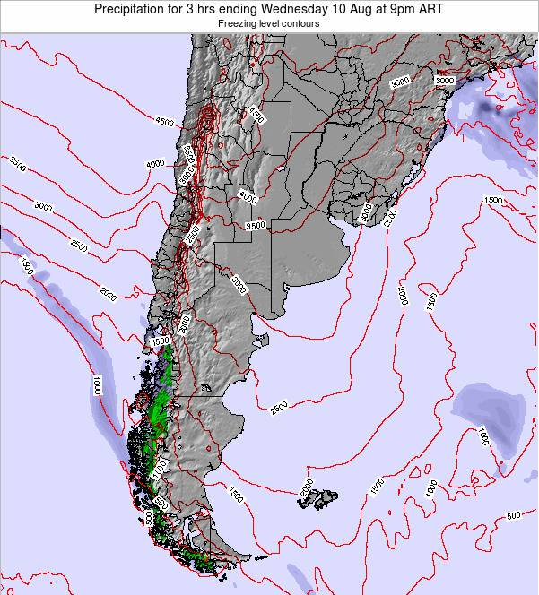 Uruguay Precipitation for 3 hrs ending Wednesday 29 May at 3am ART