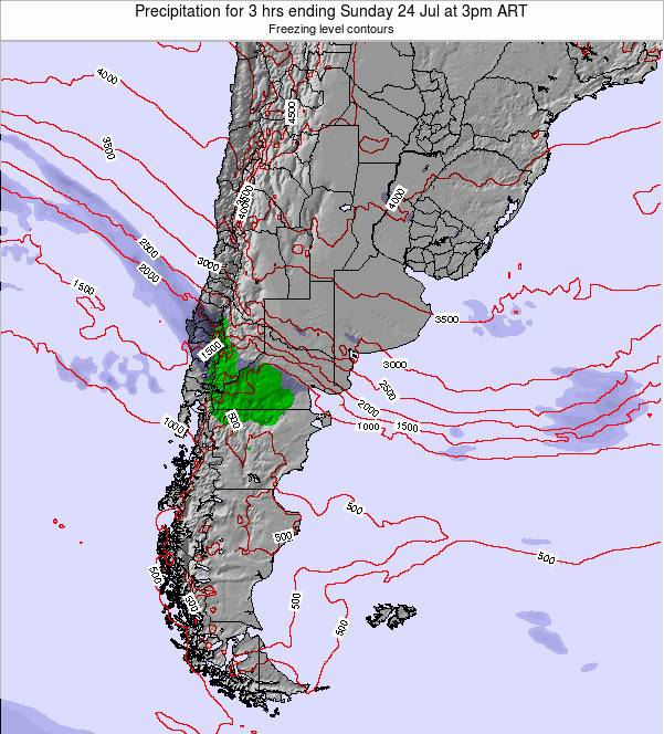 Argentina Precipitation for 3 hrs ending Friday 26 May at 3pm ART