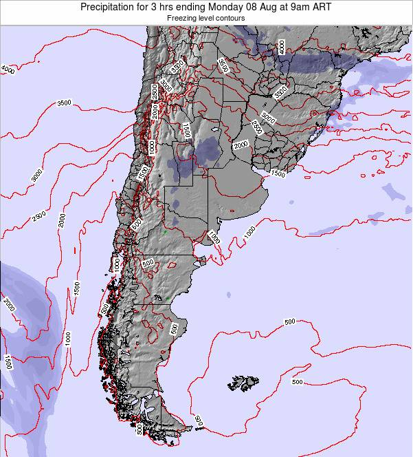 Argentina Precipitation for 3 hrs ending Sunday 23 Jun at 3am ART