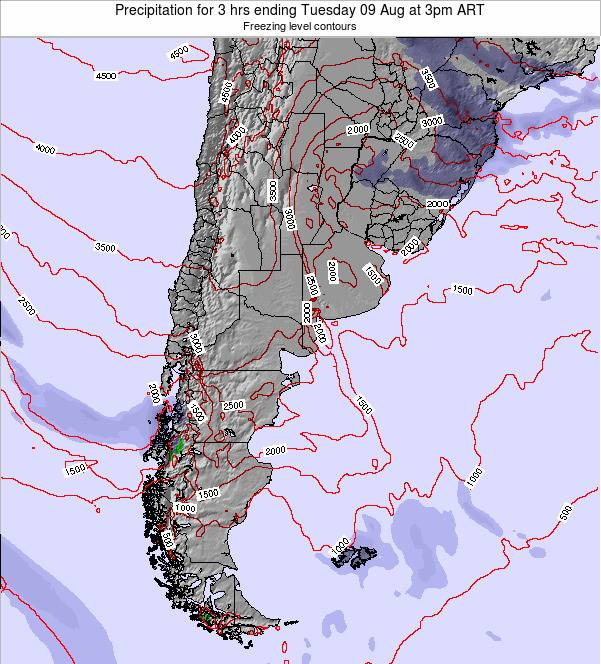 Argentina Precipitation for 3 hrs ending Friday 25 Jul at 9pm ART