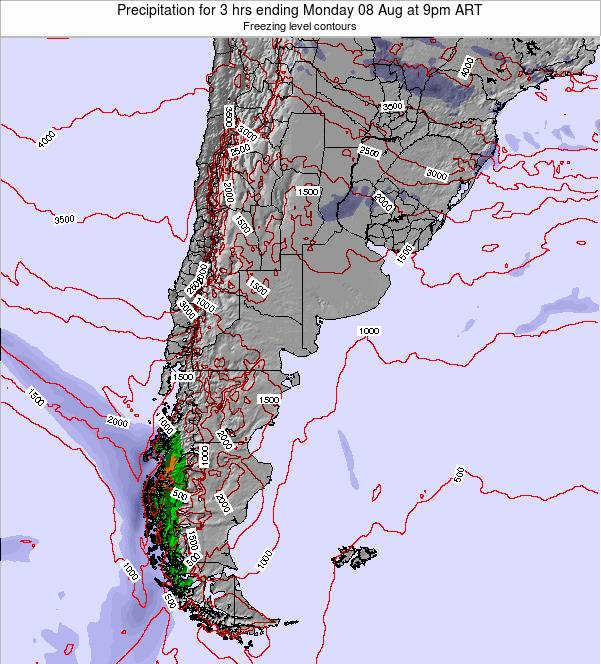 Argentina Precipitation for 3 hrs ending Friday 03 Oct at 9pm ART