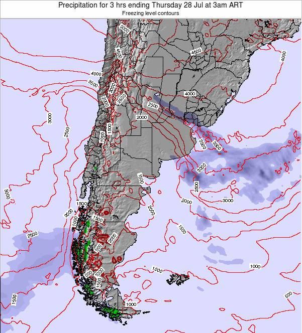 Argentina Precipitation for 3 hrs ending Saturday 25 May at 9am ART