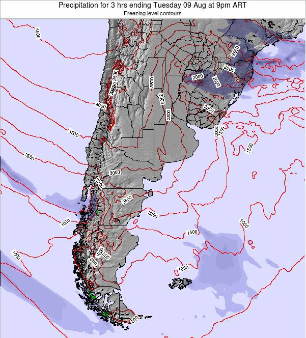 Argentina Precipitation for 3 hrs ending Saturday 25 May at 3am ART