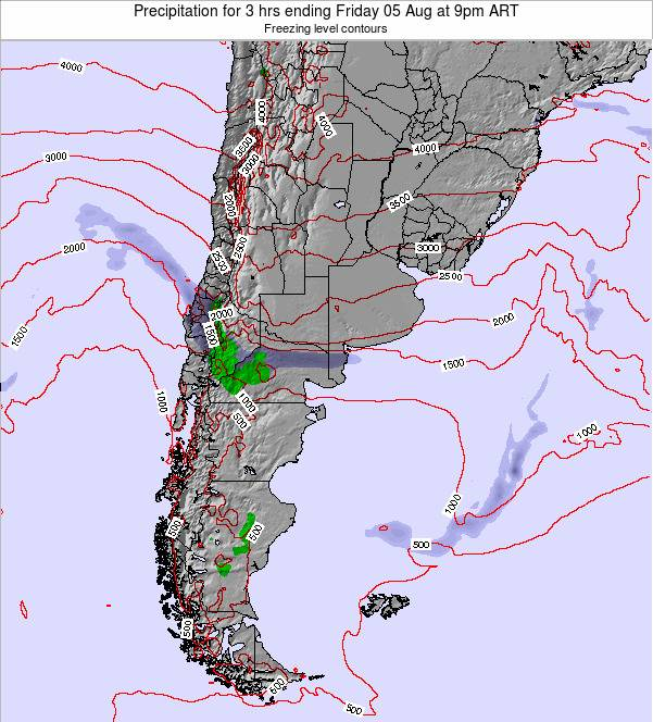 Argentina Precipitation for 3 hrs ending Wednesday 23 Apr at 3am ART