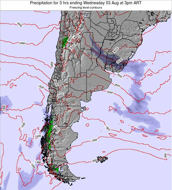 Argentina Precipitation for 3 hrs ending Friday 05 Sep at 9am ART