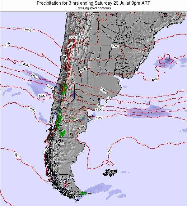 Argentina Precipitation for 3 hrs ending Sunday 26 May at 9pm ART map