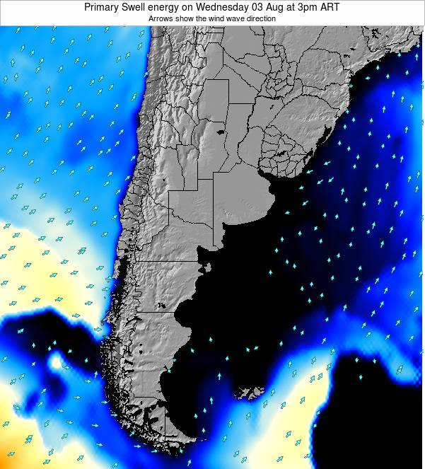 Uruguay Primary Swell energy on Thursday 13 Mar at 3pm ART