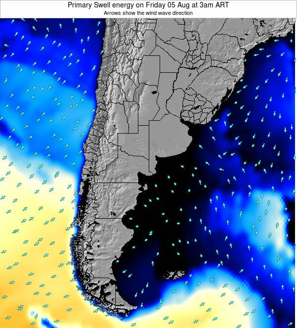 Uruguay Primary Swell energy on Friday 14 Mar at 3am ART