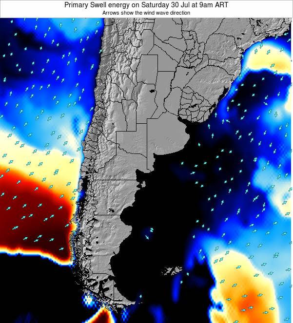Uruguay Primary Swell energy on Friday 31 May at 9am ART