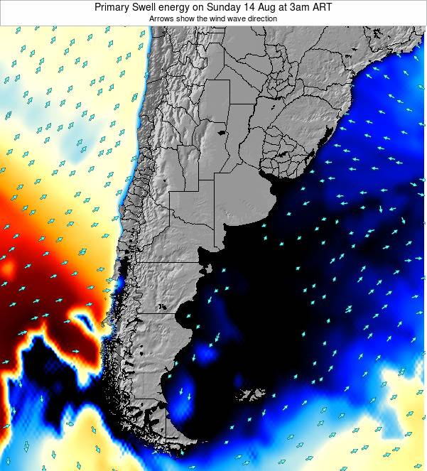 Uruguay Primary Swell energy on Wednesday 23 Apr at 3am ART