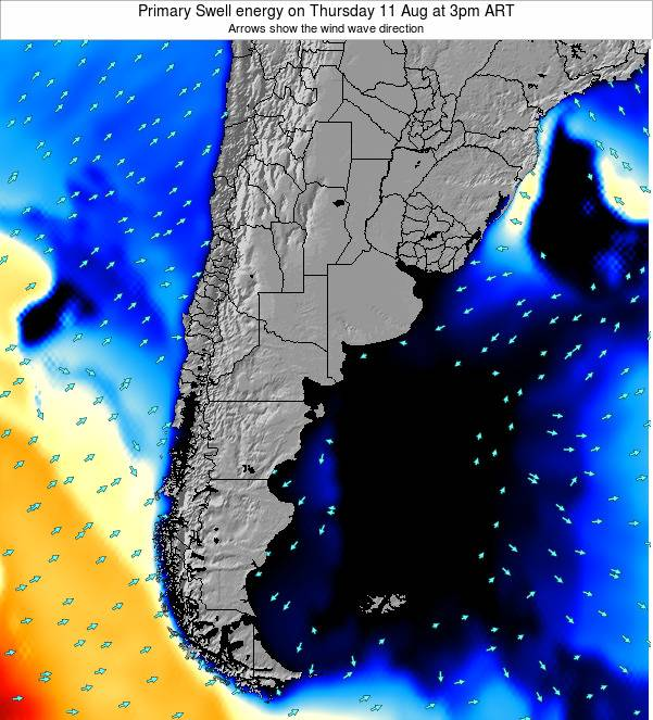 Uruguay Primary Swell energy on Wednesday 30 Apr at 9am ART