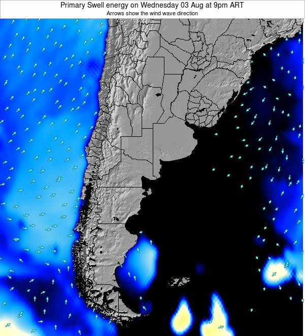 Uruguay Primary Swell energy on Thursday 01 May at 3am ART