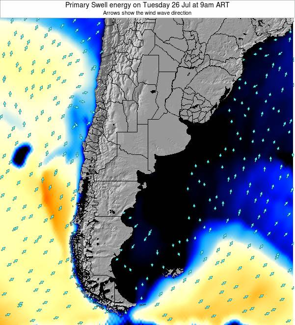 Uruguay Primary Swell energy on Wednesday 02 May at 9am ART map