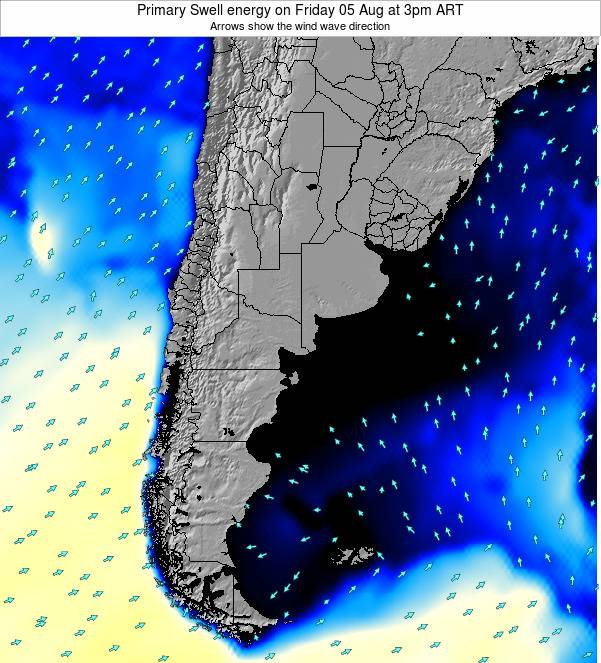 Uruguay Primary Swell energy on Saturday 01 Jul at 9am ART