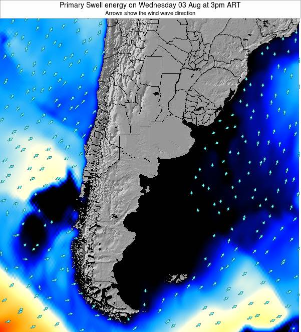 Uruguay Primary Swell energy on Wednesday 22 May at 3am ART
