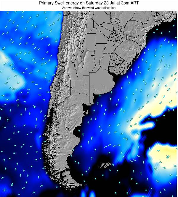 Argentina Primary Swell energy on Friday 24 May at 3am ART