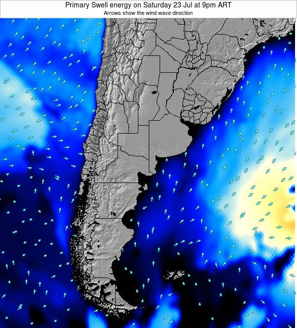 Argentina Primary Swell energy on Tuesday 21 May at 9pm ART