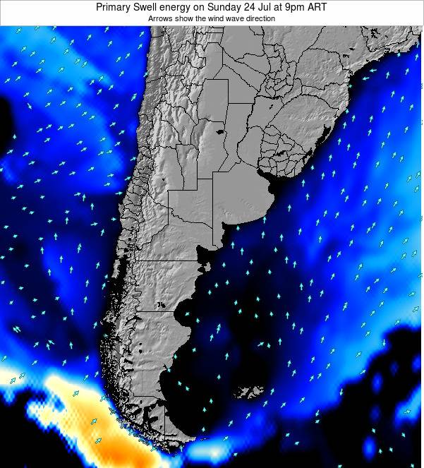 Uruguay Primary Swell energy on Friday 06 Mar at 3pm ART
