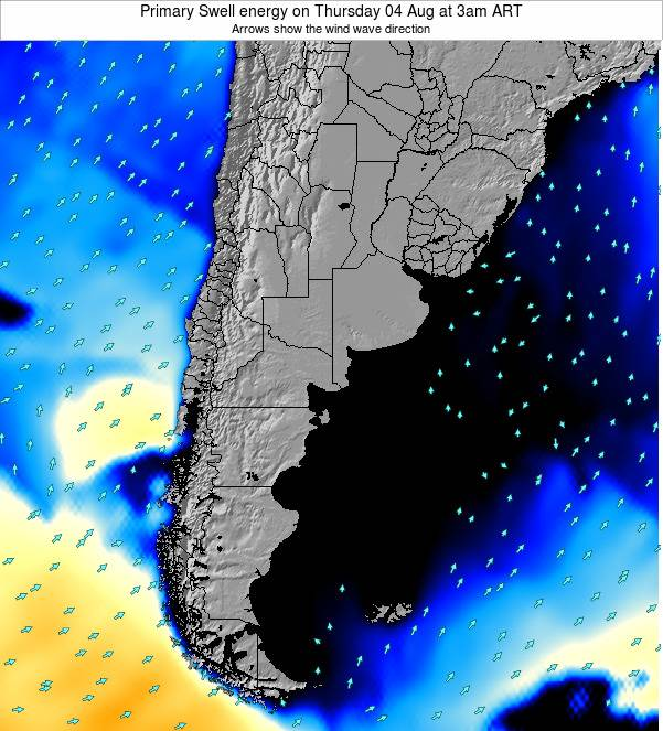 Uruguay Primary Swell energy on Sunday 26 Mar at 3am ART