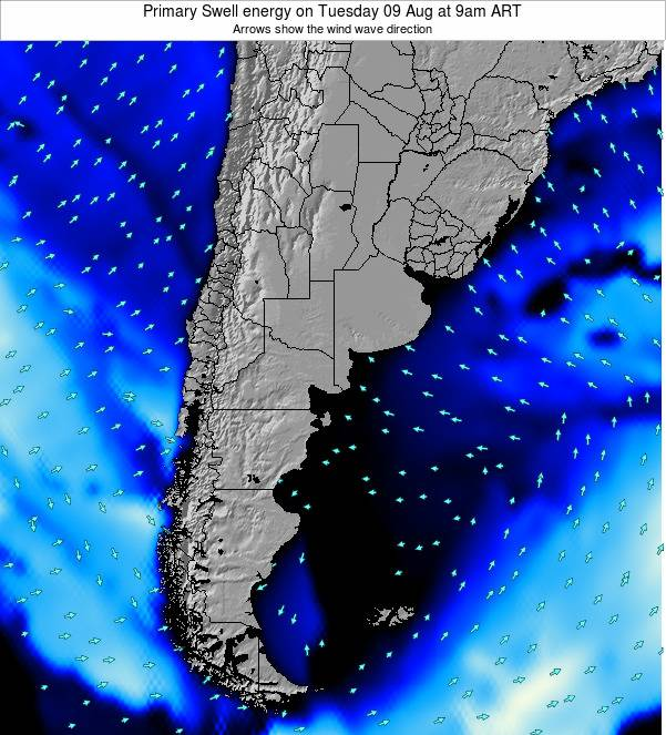 Uruguay Primary Swell energy on Friday 01 Aug at 9am ART