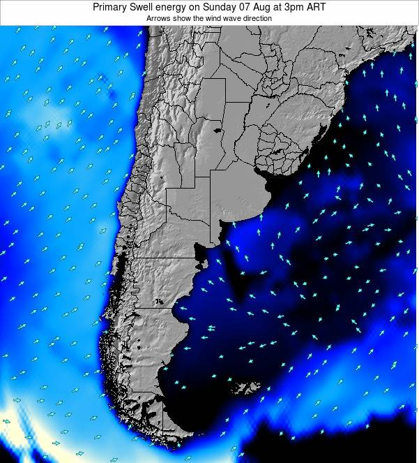 Argentina Primary Swell energy on Monday 20 May at 9am ART
