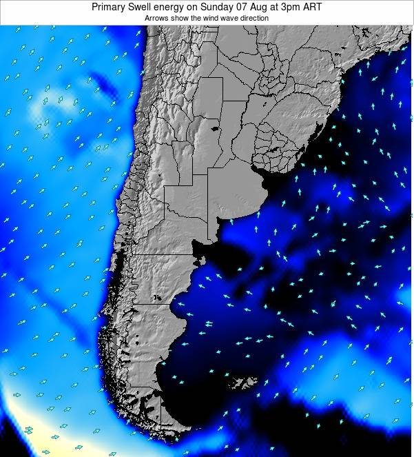 Uruguay Primary Swell energy on Sunday 27 Apr at 9am ART