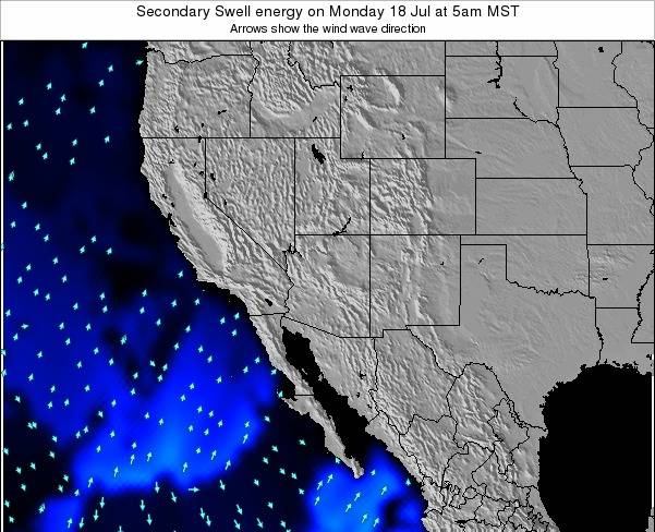 Arizona Secondary Swell energy on Wednesday 24 Apr at 5am MST map