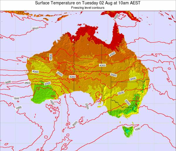 Australia Surface Temperature on Thursday 30 May at 4pm EST map